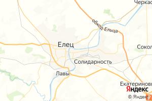 Карта г. Елец Липецкая область
