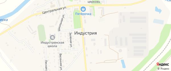 Речная улица на карте поселка Индустрии с номерами домов