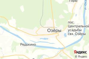 Карта г. Озёры Московская область