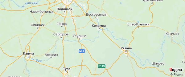 Карта Озерского городского округа Московской области с городами и населенными пунктами