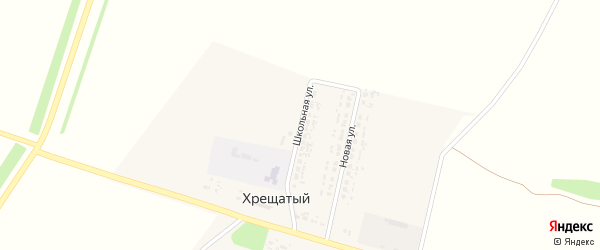 Школьная улица на карте Хрещатого хутора с номерами домов