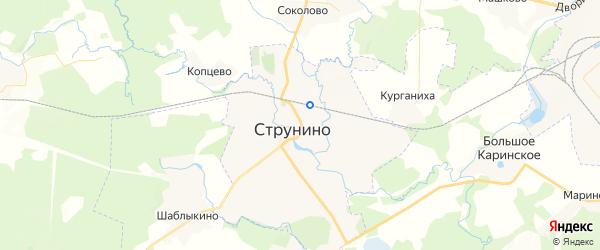 Карта Струнино с районами, улицами и номерами домов
