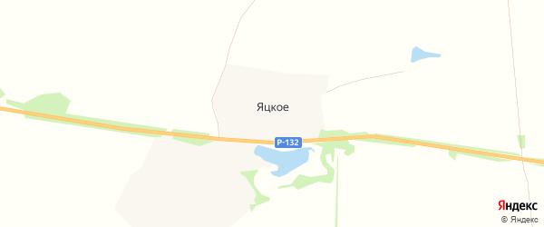 Карта деревни Яцкого в Тульской области с улицами и номерами домов