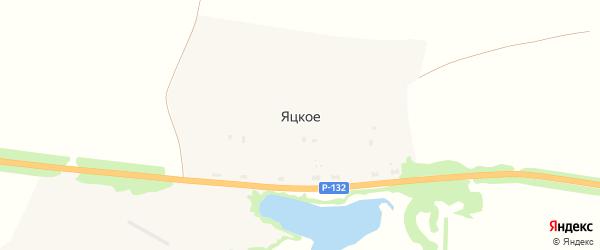 Луговая улица на карте деревни Яцкого Тульской области с номерами домов