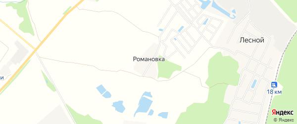 Карта деревни Романовки города Коломны в Московской области с улицами и номерами домов
