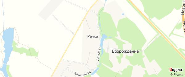 Карта деревни Речки города Коломны в Московской области с улицами и номерами домов
