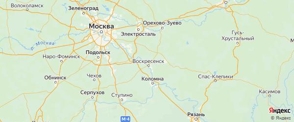 Карта Воскресенского района Московской области с городами и населенными пунктами