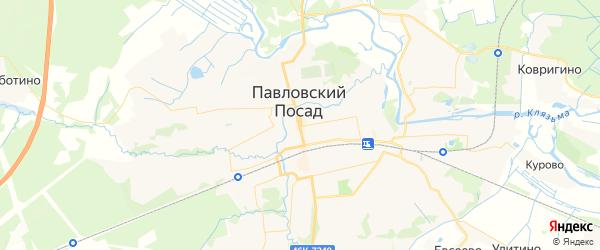 Карта Павловского Посада с районами, улицами и номерами домов