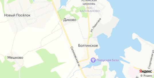 СТ Судостроитель-2 на карте деревни Болтинское с номерами домов