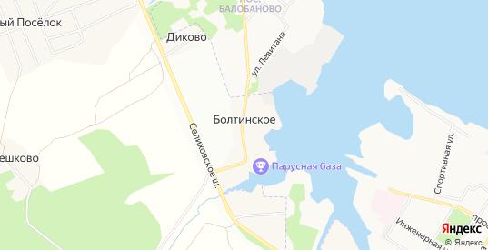 Карта деревни Болтинское в Ярославская области с улицами, домами и почтовыми отделениями со спутника онлайн