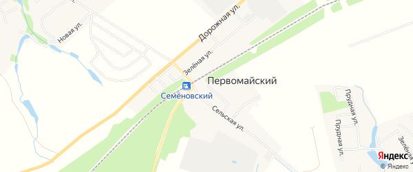 Карта Первомайского поселка города Коломны в Московской области с улицами и номерами домов