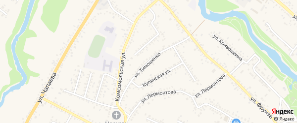 Улица Тимошенко на карте Алексеевки с номерами домов