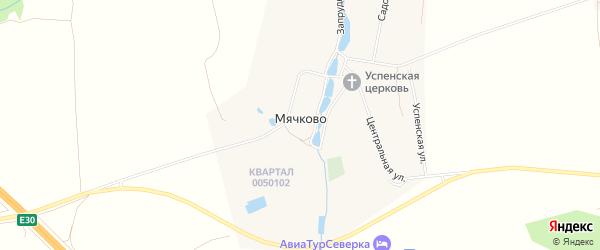 Карта села Мячково города Коломны в Московской области с улицами и номерами домов