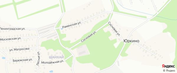 Сосновая улица на карте поселка Каменников Ярославская области с номерами домов