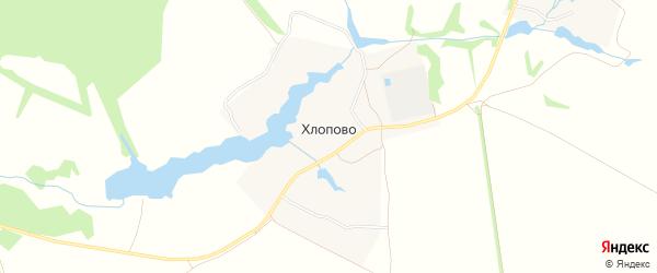 Карта деревни Хлопово города Зарайска в Московской области с улицами и номерами домов