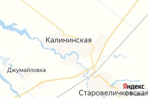 Карта ст. Калининская Краснодарский край