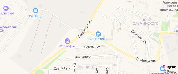 Полевой проезд на карте Алексеевки с номерами домов