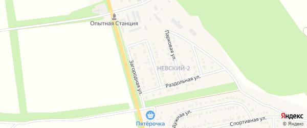 Рассветная улица на карте Алексеевки с номерами домов