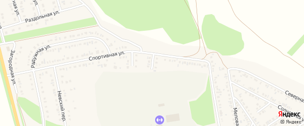 2-й Спортивный тупик на карте Алексеевки с номерами домов