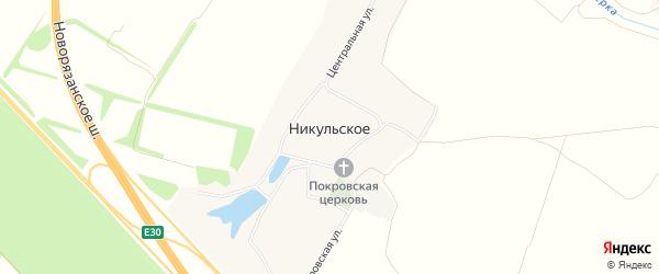 Карта Никульского села города Коломны в Московской области с улицами и номерами домов