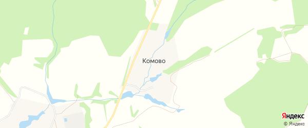 Карта деревни Комово города Зарайска в Московской области с улицами и номерами домов