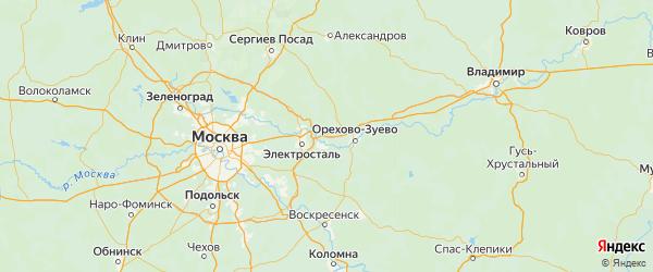Карта Павлово-Посадского района Московской области с городами и населенными пунктами