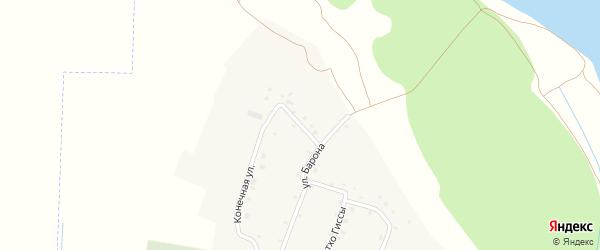 Переулок Барона на карте аула Псейтука Адыгеи с номерами домов