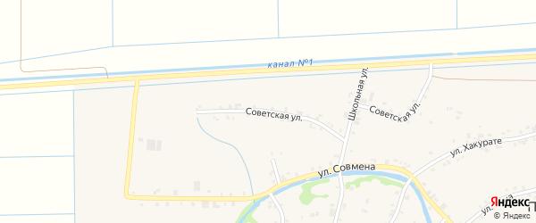 Советская улица на карте аула Панахес Адыгеи с номерами домов