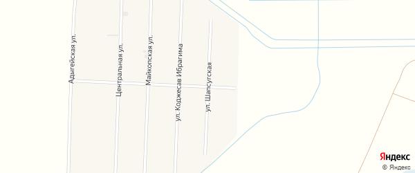 Шапсугская улица на карте аула Панахес Адыгеи с номерами домов