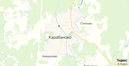 Карта Карабаново с улицами и домами подробная. Показать со спутника номера домов онлайн