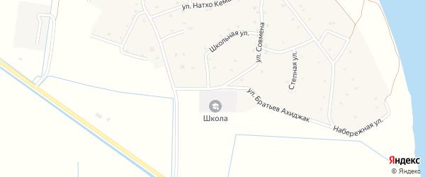 Улица Братьев Ахиджак на карте аула Псейтука Адыгеи с номерами домов