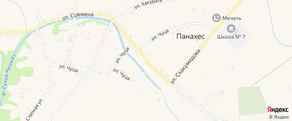 Улица Х.М.Совмена на карте аула Панахес Адыгеи с номерами домов