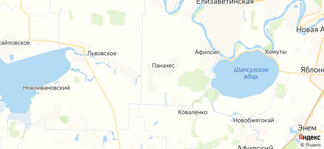 Панахес на карте