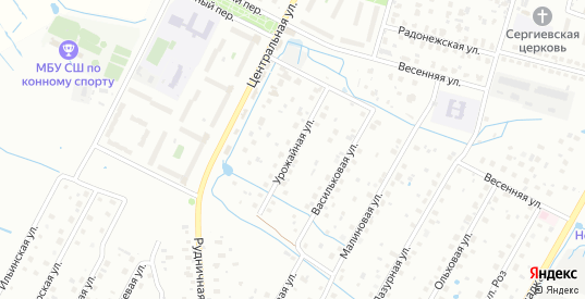 Урожайная улица в Воскресенске с номерами домов на карте. Спутник и схема онлайн
