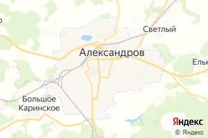Карта г. Александров Владимирская область
