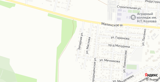 Западная улица в Коломне с номерами домов на карте. Спутник и схема онлайн