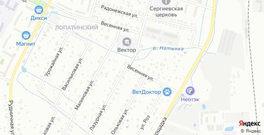 Весенняя улица в Воскресенске с номерами домов на карте. Спутник и схема онлайн