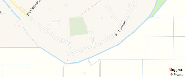 Совмена 1-й переулок на карте аула Панахес Адыгеи с номерами домов