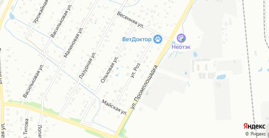 Улица Роз в Воскресенске с номерами домов на карте. Спутник и схема онлайн