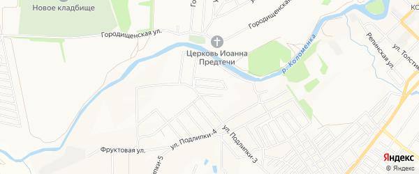 Садовое товарищество Восход-2 на карте Коломны с номерами домов
