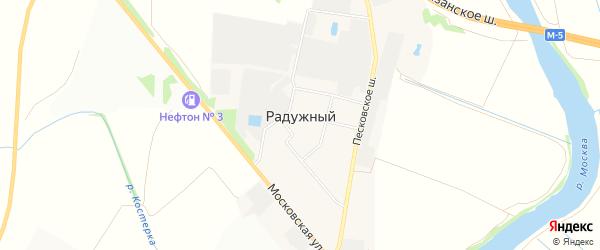 Карта Радужного поселка города Коломны в Московской области с улицами и номерами домов