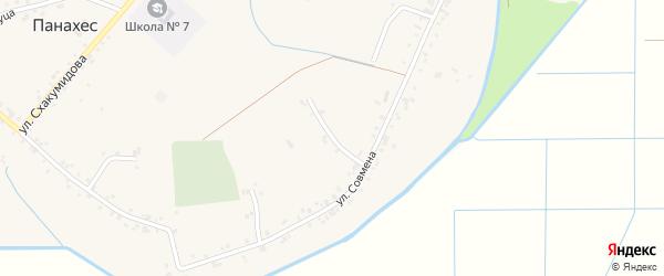 Совмена 2-й переулок на карте аула Панахес Адыгеи с номерами домов