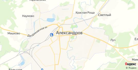 Карта Александрова с улицами и домами подробная. Показать со спутника номера домов онлайн