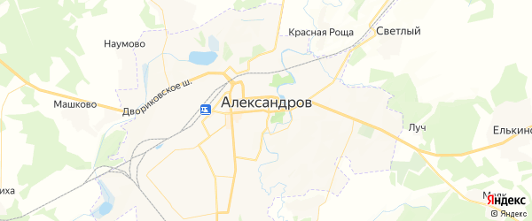 Карта Александрова с районами, улицами и номерами домов