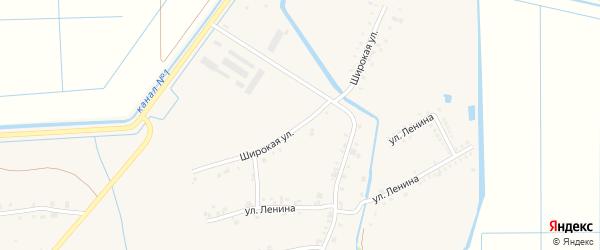 Широкая улица на карте аула Панахес Адыгеи с номерами домов