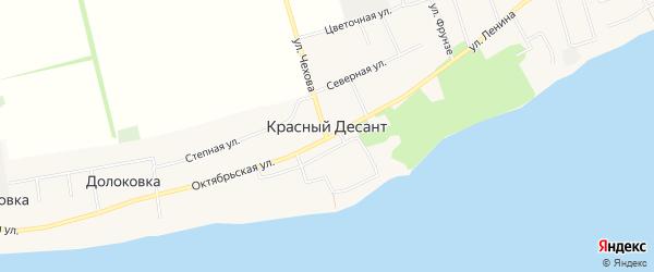 Карта хутора Красного Десанта в Ростовской области с улицами и номерами домов