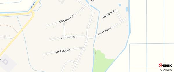Улица Ленина на карте аула Панахес Адыгеи с номерами домов