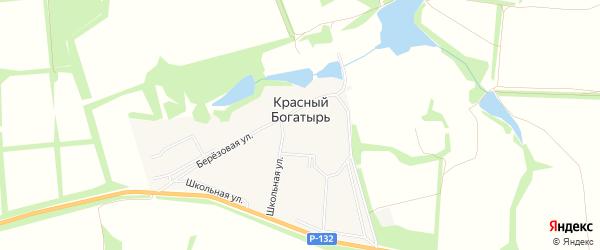 Карта поселка Красного Богатыря в Тульской области с улицами и номерами домов