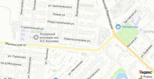 Новопоселковая улица в Коломне с номерами домов на карте. Спутник и схема онлайн