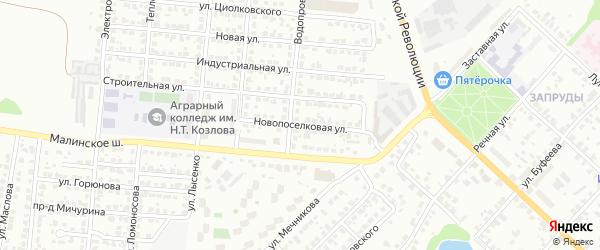 Новопоселковая улица на карте Коломны с номерами домов